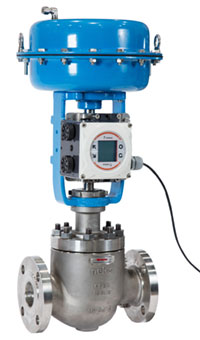 Figure 2. Neles globe valve with the new generation NDX controller